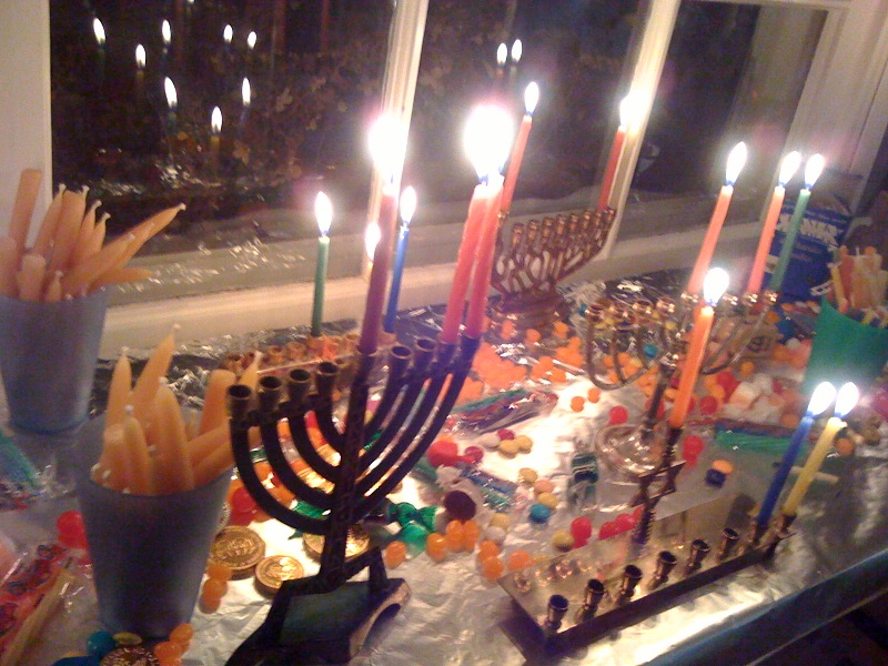 Lesley's Chanukah lights