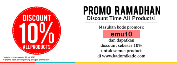 Promo Disc 10% all products